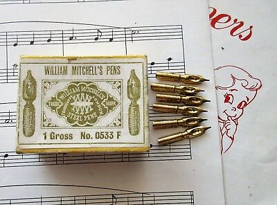 6 Rare William Mitchell #0533 Warehouseman Pen Nibs+Calligraphy+Draw+Magna+More