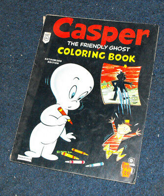 Casper The Friendly Ghost coloring book Saalfield 1959
