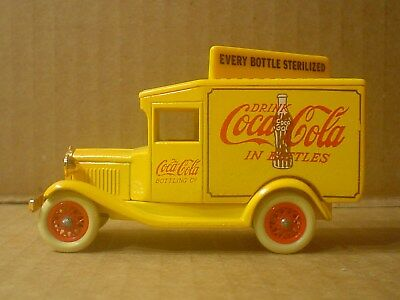 Coca Cola Days Gone By Die Cast & Plastic Yellow Delivery Truck ~ Lledo England