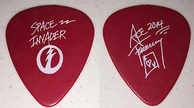 Kiss-Ace Frehley Space Invader Solo Tour Guitar Pick-Ace's Own Pick-Red/white!