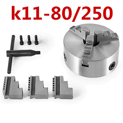 K11 80-250 3 Jaw Lathe Chuck Self Centering for Drilling Milling Tool