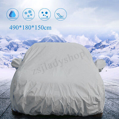 4.9M Universal Heavy Duty L Full Car Cover UV Dust Snow Protection Waterproof