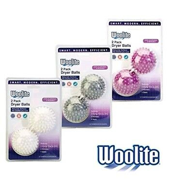 Woolite 2 Pack Dryer Balls Naturally Softens Clothes HypoAllergenic Reusable