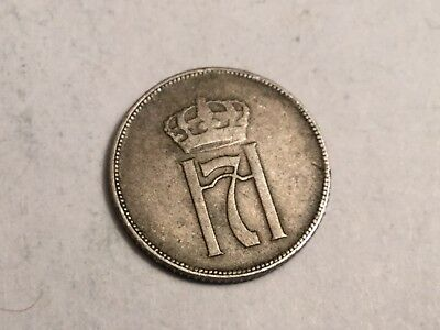 NORWAY  1922 10 Ore coin circulated