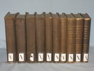1880-86 Lot Set Of 10 Books Archives Of The State Of New Jersey By W. Whitehead