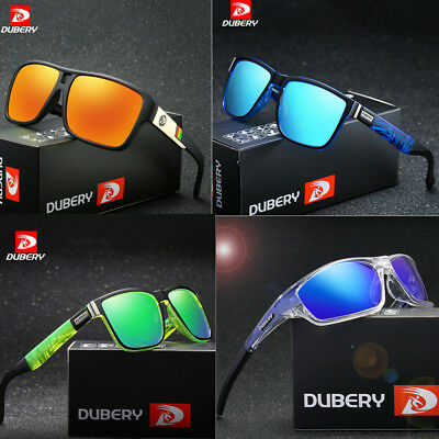 DUBERY Mens Womens Polarized Sport Sunglasses Outdoor Riding Fishing Goggles Hot