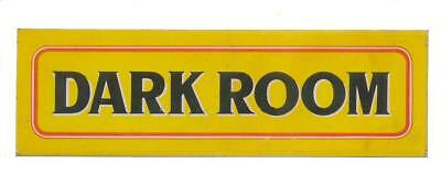 Vintage Tin Sign DARK ROOM appx 2.5in x 7.50in