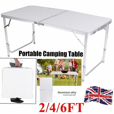 2 4 5 6 FT Folding Picnic Table Heavy Duty Trestle Outdoor Camping Party Picnic