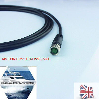 Industrial Field-wireable M8 Sensor Connector 3-Pin Female Adaptor 2m PVC Cable