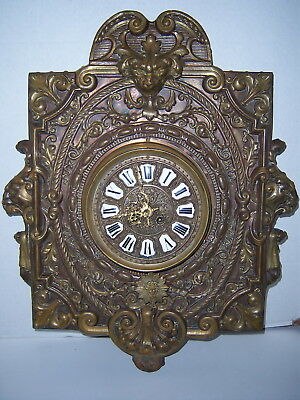 Antique French Bronze Wall Clock, FOT BTE
