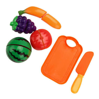 Kids Role Play Kitchen Wooden Fruit Vegetable Food Cutting Toy Set XQN