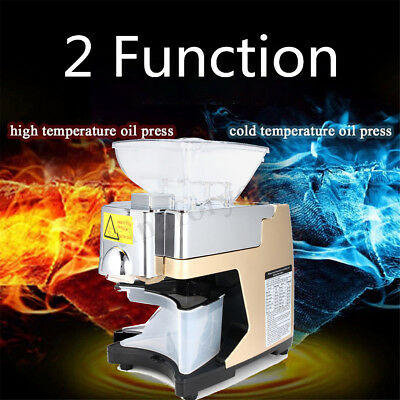 Stainless Steel Automatic Oil Press Machine Hot Cold Olive Oil Mill Extractor