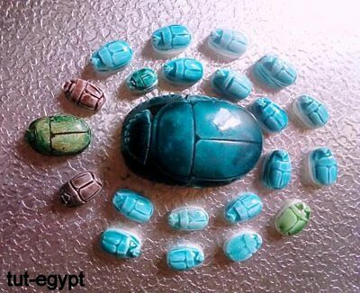 23 RARE ANCIENT EGYPTIAN ANTIQUE Egypt Scarab Carved Stone 1210 Bc