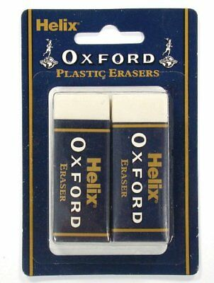 Helix Oxford Large Sleeved Rubber Erasers )Pack of 2)