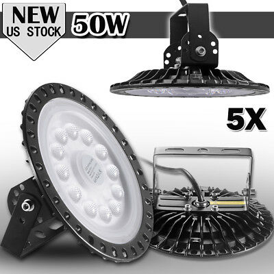 5x 50W UFO LED High Bay Light Gym Factory Warehouse Industrial Shed Lighting