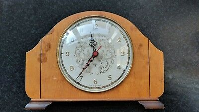 vintage style Andrew battery mantel clock, in working or