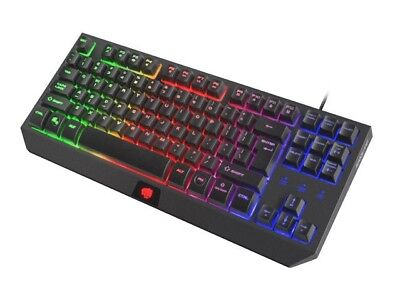 Membrane Gaming Keyboard Fury Hurricane Tkl Us, Rainbow Backlight