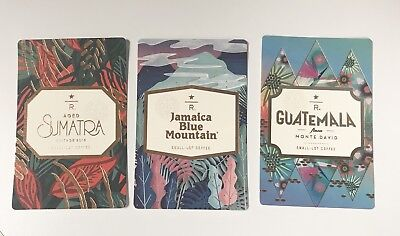 ++ 3 STARBUCKS Reserve 2018 New Collection Coffee Taster Single Card Christmas
