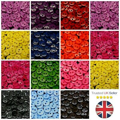Sewing Buttons 9mm + More Mixed Colour Card Making Costume Sew Craft ML