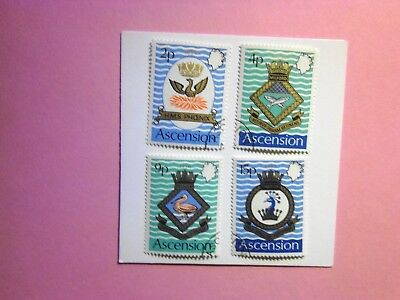 ASCENSION ISLAND: 1971 Naval Crests (3rd series) 4values VFU Sg149/152