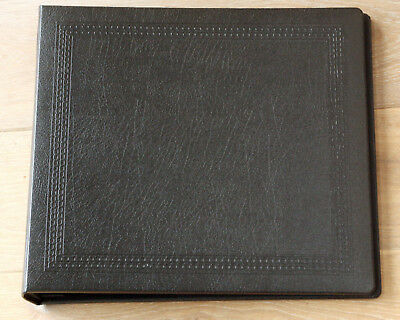 Spicer Hallfield Black Leather Effect Wedding/ Photo Album 10 Leaves