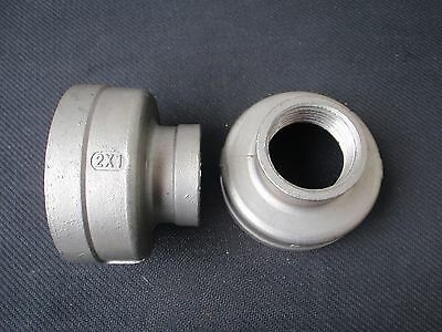 """STAINLESS STEEL REDUCER COUPLING  2"""" x 1"""" NPT  PIPE RC-200-100"""