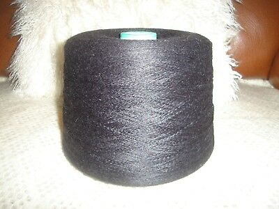 Huge Cone Of Black Fine Cashmere Soft Wool / Yarn