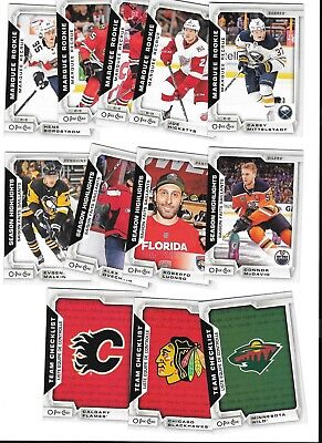 2018-19 O-Pee-Chee Sps Marquee Rookies,checklists,sh.ll Mcdavid,mittelstadt,