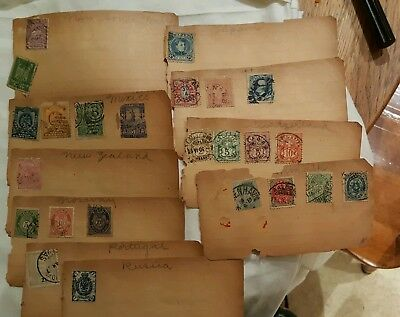 Old Vintage STAMPS WORLDWIDE COLLECTIONS LOT