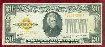 Fr 2402-Series of 1928 $20.00 Gold Certificate-Crisp but Folded