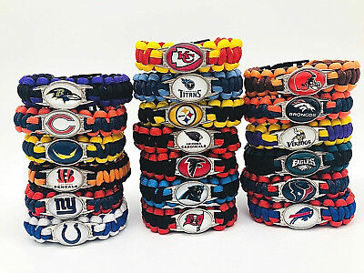 Football Nfl Us Team Umbrella Rope Wristband  Bracelets Bracelets-Pick Team Gift
