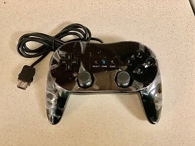 Black Wired Classic Controller Pro For Retro Wii/Wii U Console