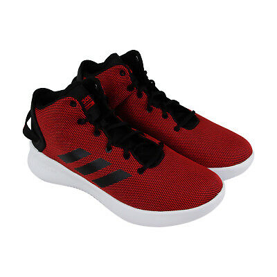 timeless design 892f9 c826a Adidas Cf Refresh Mid Mens Red Textile Sneakers Lace Up Basketball Shoes