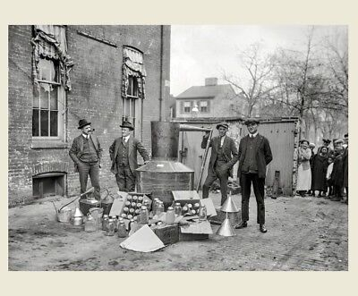 1922 Bootleggers Liquor Still PHOTO Moonshine Whiskey, Mason Jars, PROHIBITION