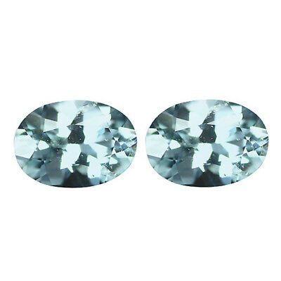 1.32Ct Extreme Oval Cut 7 x 5 mm 100% Natural Top Luster Blue Aquamarine