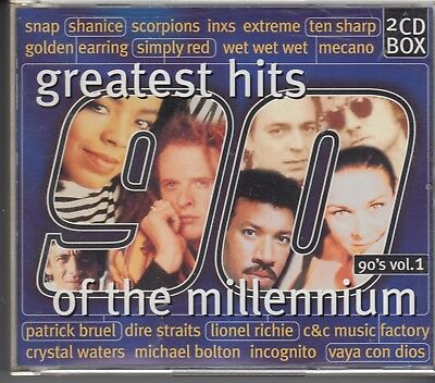 Greatest Hits Of The Millennium 90'S V1 2-Cd Dire Straits Scorpions Ten Sharp