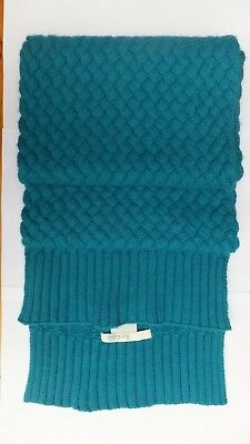 Boden Wool & Angora Teal/turquoise Long Cable Scarf