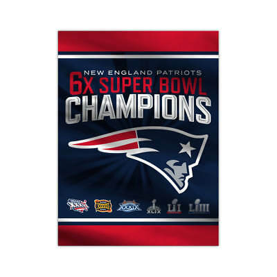 2018 Super Bowl 53 Champions Home Flags - NFL New England Patriots Tom Brady