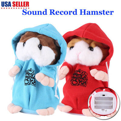 Talking Hamster Mimicry Pet Plush Toy Kids Speak Talking Sound Record Toy US