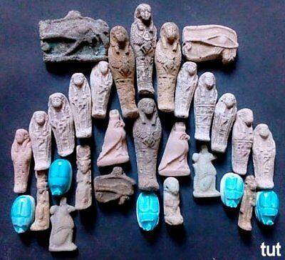 Ancient Egyptian Antiques Rare 30  Amulets Egypt Faience Stone1816 BC