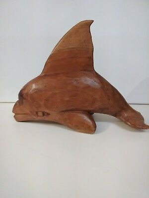 Wood Carved Porpoise