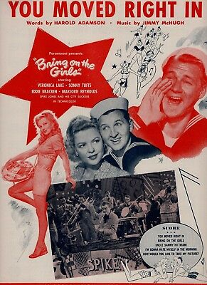 VERONICA LAKE & EDDIE BRACKEN sheet music BRING ON THE GIRLS (1945)