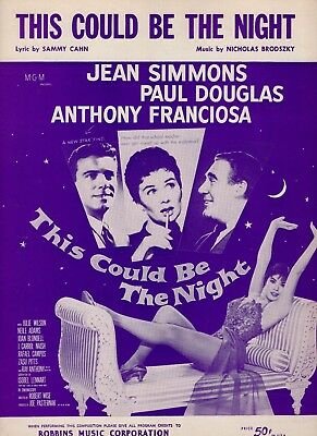 JEAN SIMMONS & PAUL DOUGLAS sheet music THIS COULD BE THE NIGHT (1957)