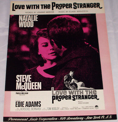 NATALIE WOOD & STEVE McQUEEN sheet music LOVE WITH THE PROPER STRANGER (1963)