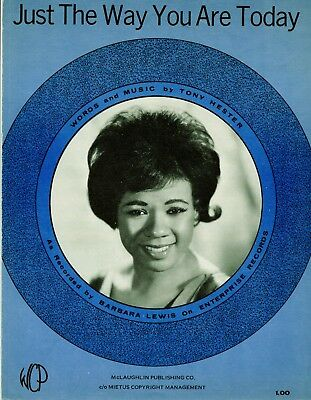 BARBARA LEWIS sheet music JUST THE WAY YOU ARE TODAY (1970)