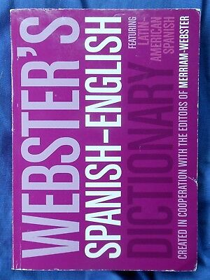 Webster's Spanish-English Dictionary; Paperback. SAVE with Combined Shipping.