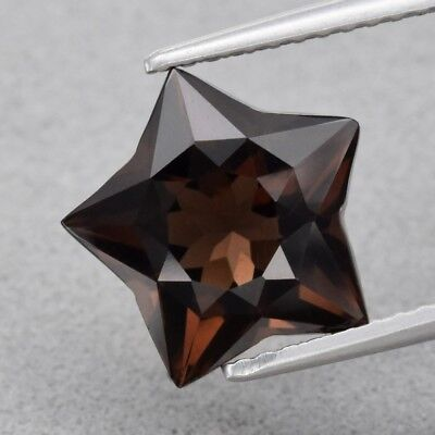 Top! VVS 3.04ct 10.4x10.2mm Star Natural Smoky Quartz, Brazil