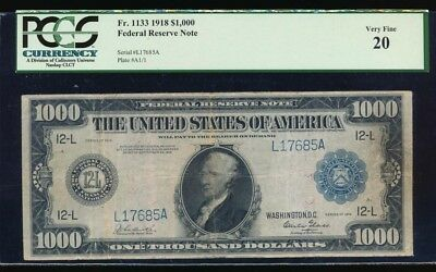 1918 $1000 One Thousand Dollar Bill