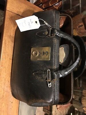 VINTAGE LEATHER DOCTORS BAG W/ CONTENTS Tools And More
