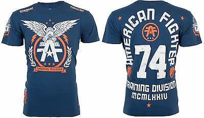 AMERICAN FIGHTER Mens T-Shirt TAKE FLIGHT Eagle NAVY Athletic Biker Gym UFC $40